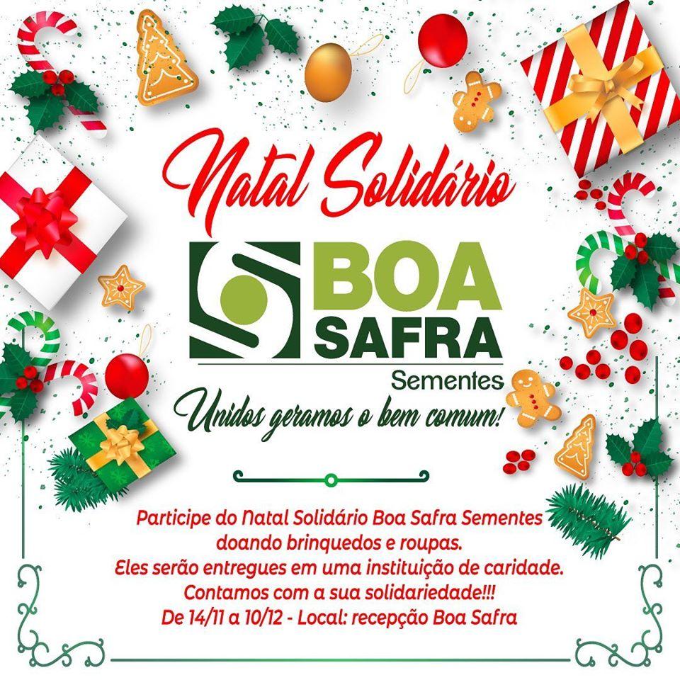 "Boa Safra promove ""Natal Solidário"""